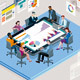 Office Meeting with a Big Tablet - GraphicRiver Item for Sale