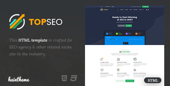 TopSEO – SEO, Digital Marketing Agency Responsive Template