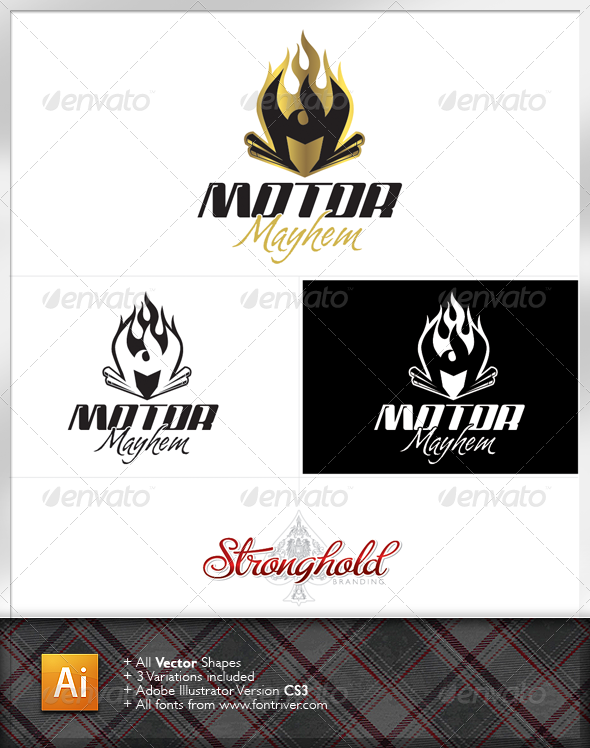 Motorcycle Logo - Letters Logo Templates