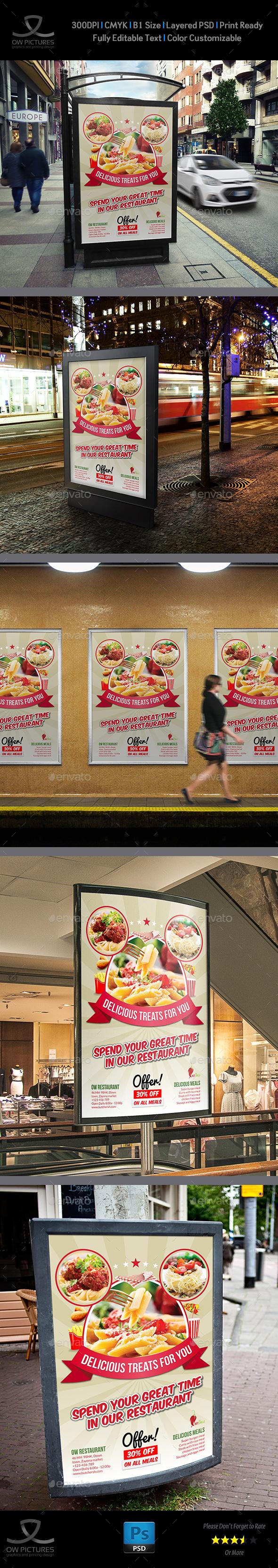Restaurant Poster Template Vol.8