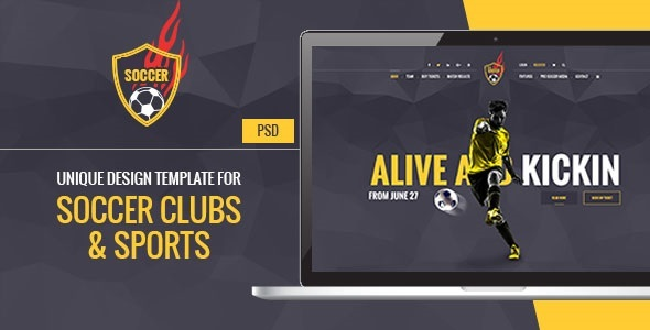Soccer Acumen – Soccer and Football Club PSD Template