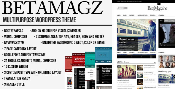 Betamagz - Multipurpose Theme For WP Magazine - Blog / Magazine WordPress