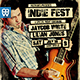 Indie Rock Fest Flyer-Graphicriver中文最全的素材分享平台