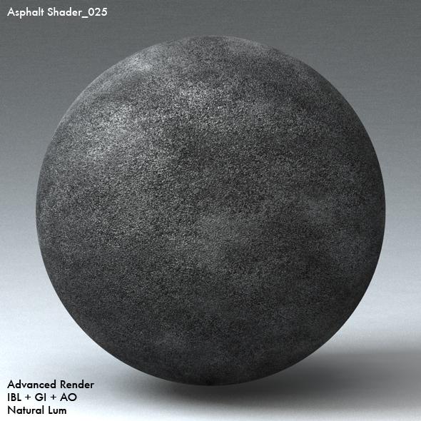 Asphalt Shader_025 - 3DOcean Item for Sale
