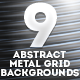 9 Abstract Metal Grid Backgrounds - GraphicRiver Item for Sale