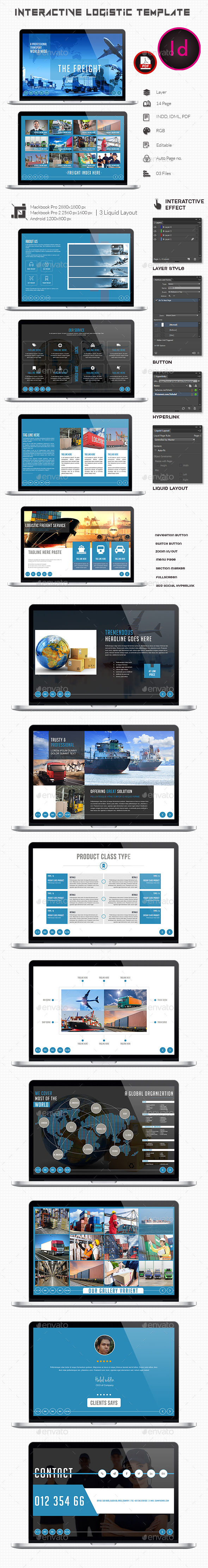 Interactive Logistic Template  - ePublishing