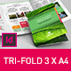 Brochure Tri-fold Indesign Template Green - GraphicRiver Item for Sale