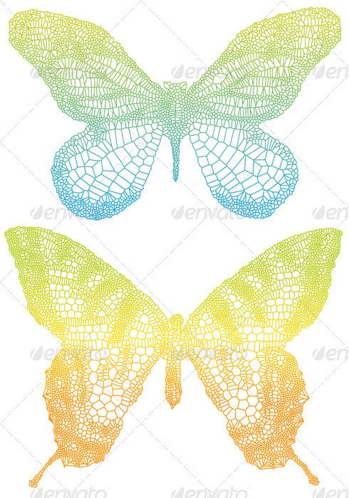 Vector Butterflies - Animals Characters