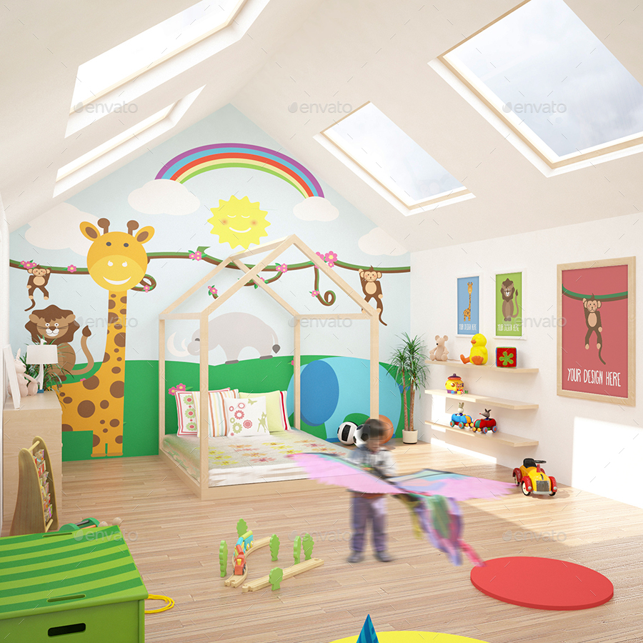12 Children Room Gallery Mockups Pack