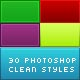 30 Clean Gradient Photoshop Styles - GraphicRiver Item for Sale