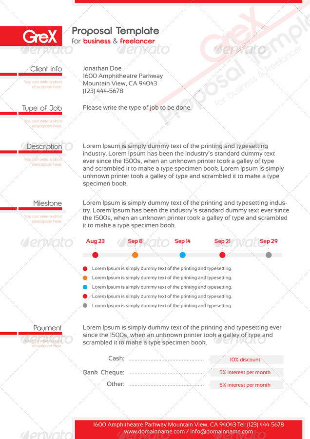 template package proposals invoices stationery screens01_grex_resumejpg screens02_grex_proposaljpg