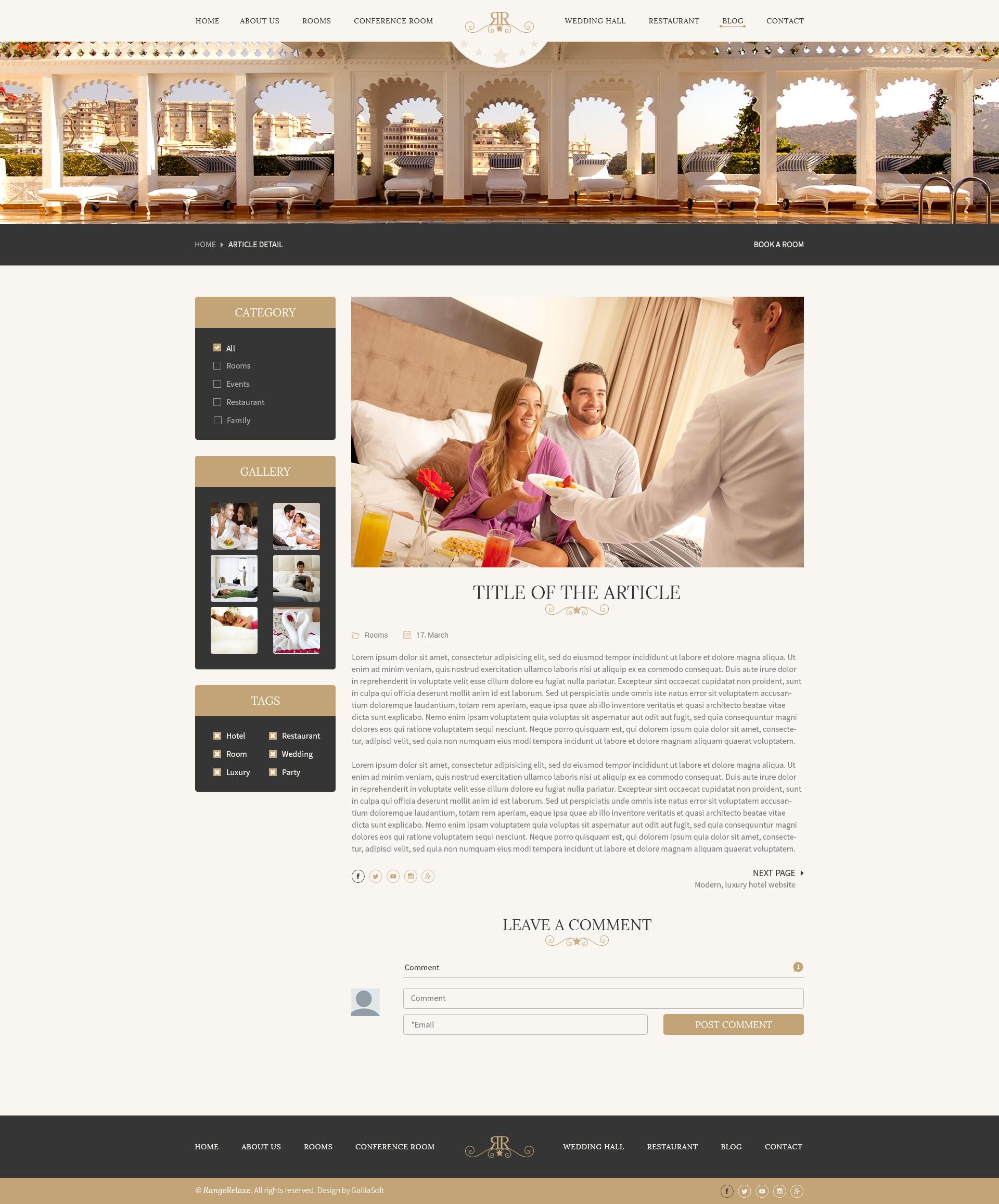 Hotel Blog Themes