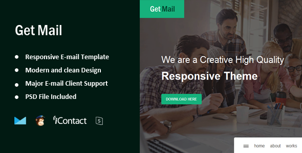 Get Mail - Responsive E-mail Template + Online Access  - Email Templates Marketing