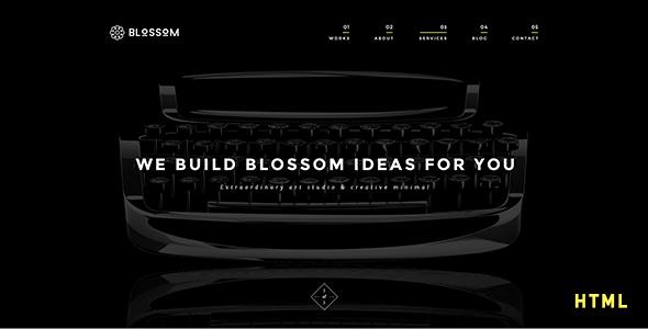 Blossom – Minimal Portfolio HTML Template