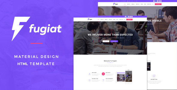 Fugiat - Material Design Multi-Purpose HTML Template