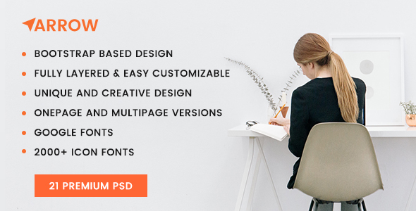 Arrow – Multi Concept PSD Template