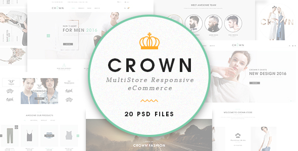 Crown – Ecommerce PSD Template