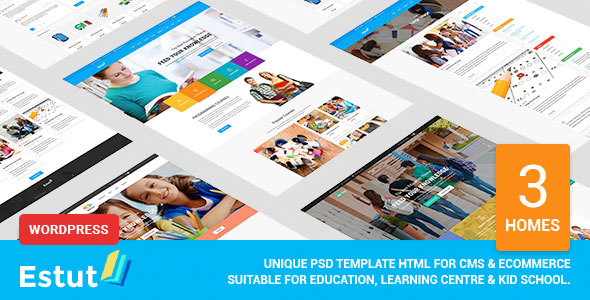 ESTUT | Elearning Online Course Premium Responsive Education WordPress Theme