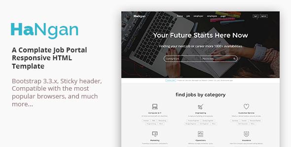 HaNgan – Job Portal Responsive HTML Template
