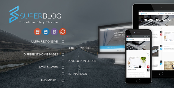 Super Blog – Shopping Responsive HTML Template