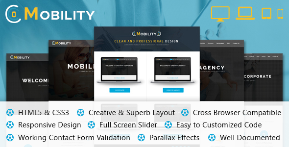 Mobility One Page Template