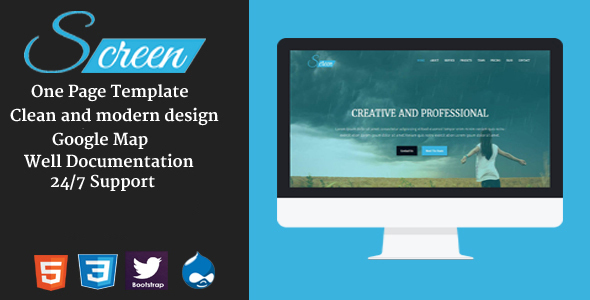 Screen – Onepage Creative Drupal Theme