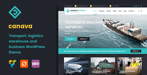 Canava - Logistics and Business WordPress Theme - Business Corporate