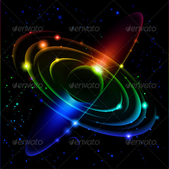 Abstract Solar system #5. - Backgrounds Decorative