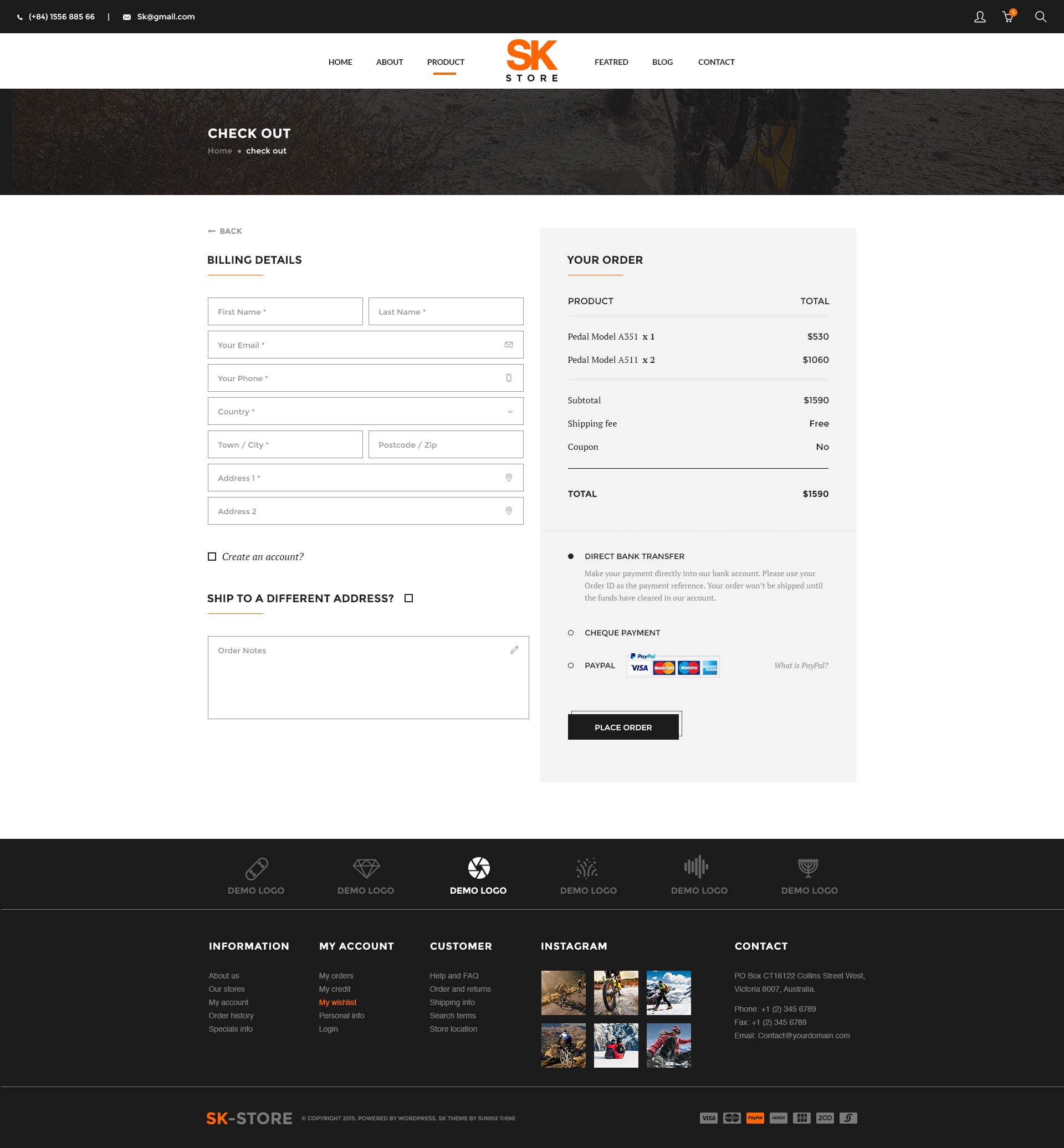SK Store Unique Shop PSD Template For Sport And Athletes By - Invoice maker free download rocco online store