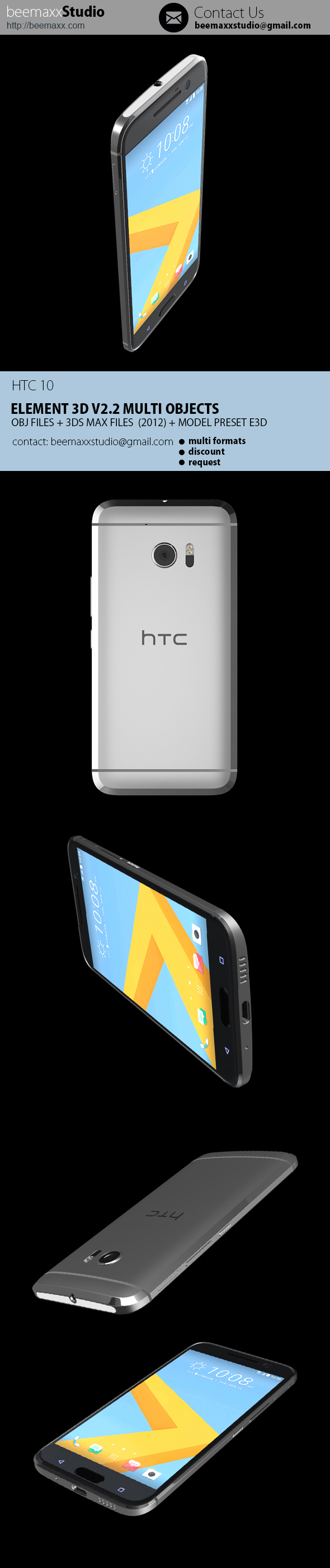 E3D - HTC 10 - 3DOcean Item for Sale