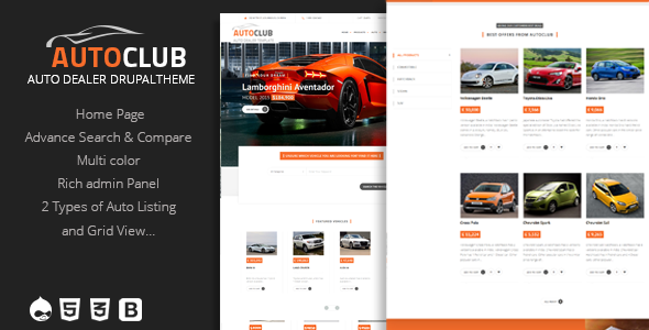 Auto Club – Responsive Car Dealer Drupal Theme
