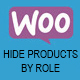 WooCommerce Hide Products By Role