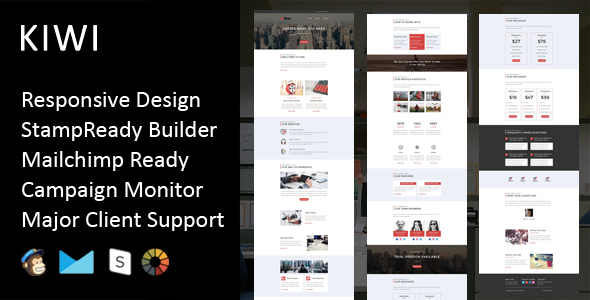 KIWI- Multipurpose Responsive Email Template + Stampready Builder - Email Templates Marketing