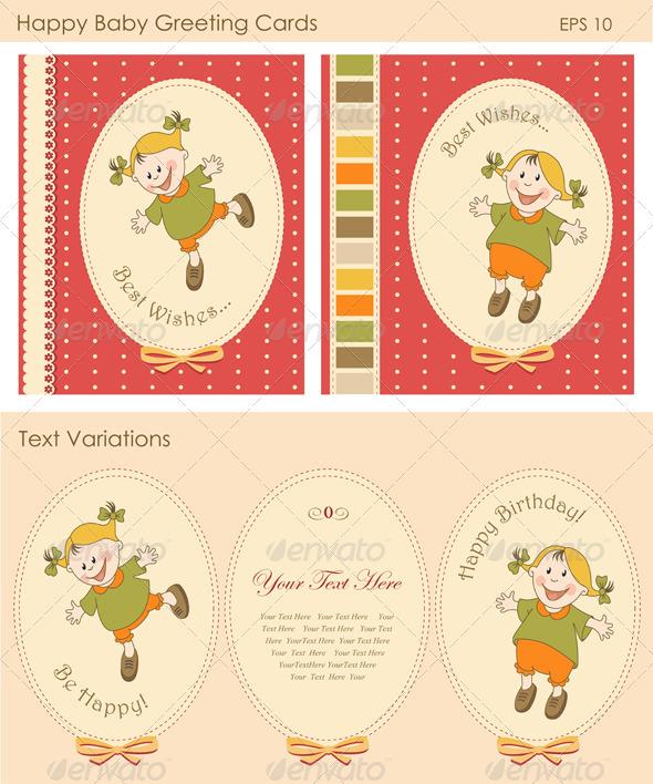 Happy Baby Greeting Cards - Birthdays Seasons/Holidays