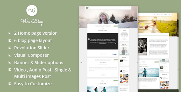 We blog - Blog WordPress Theme