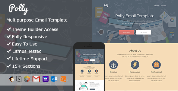 Polly - Responsive Email + StampReady Builder - Email Templates Marketing