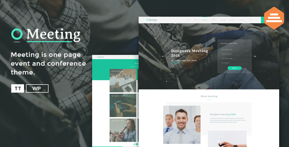Meeting - A Single Page Event HTML Template - Events Entertainment