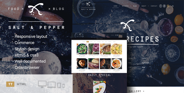 Salt & Pepper – Cooking HTML template