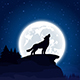 Wolf on Moon Background - GraphicRiver Item for Sale