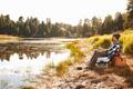 African American Man Fishing By Lake - PhotoDune Item for Sale