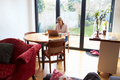 Woman Working From Home On Laptop In Modern Apartment - PhotoDune Item for Sale