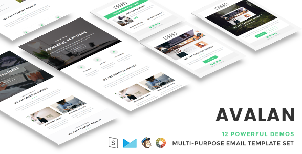 Avalan – Responsive Email Set
