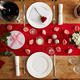 Overhead View Of Table Set For Romantic Valentines Day Meal - PhotoDune Item for Sale