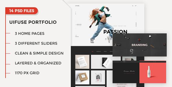 UiFuse – Creative PSD Template