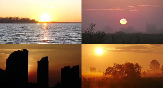Sunset and Sunrise FullHD