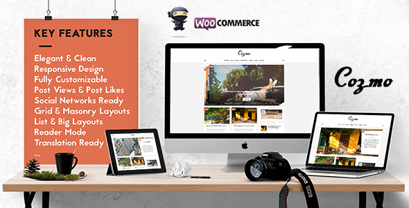 Cozmo – Clean & Simple WordPress Blog & Ecommerce Theme