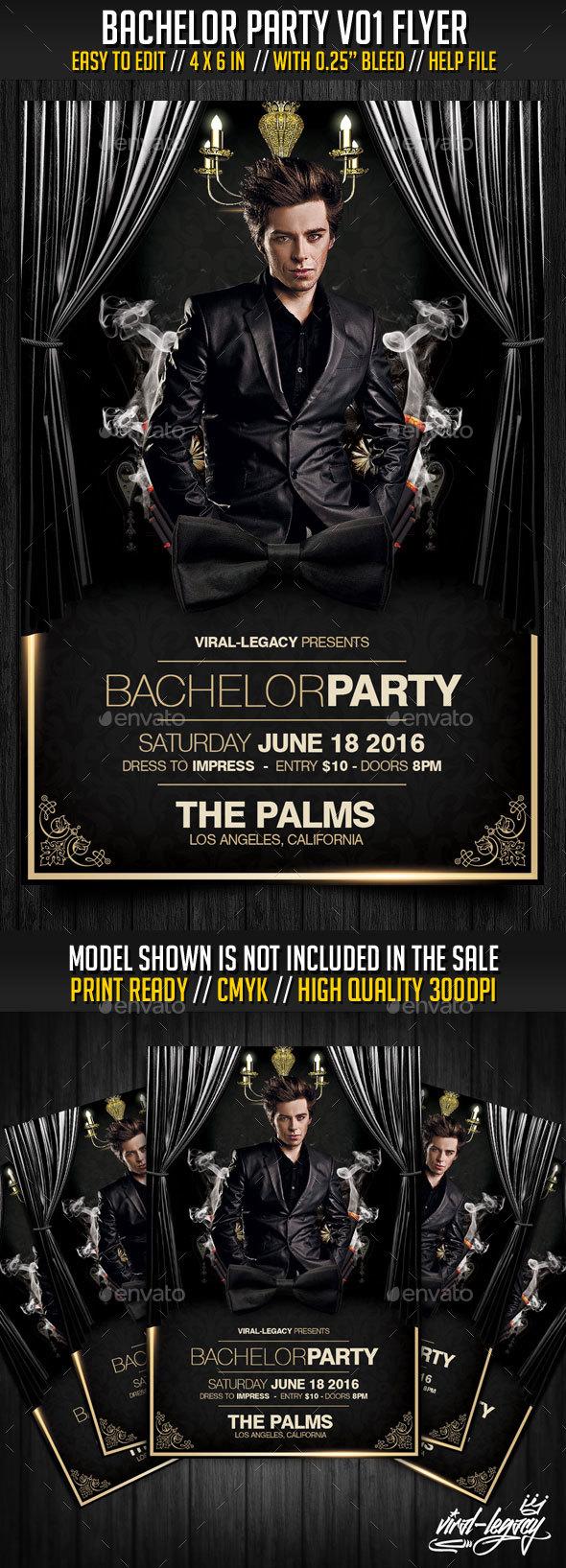 Bachelor Party V01 Flyer - Events Flyers