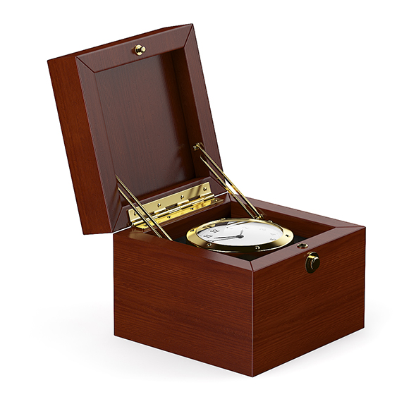 Golden Watch in Wooden Box - 3DOcean Item for Sale