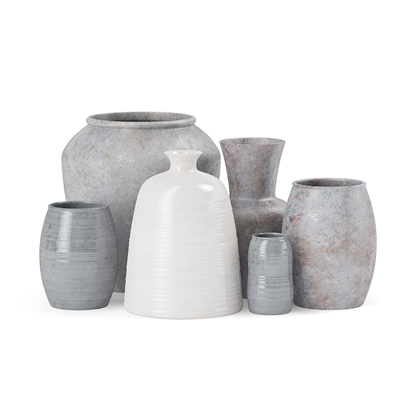 Ceramic Vases - 3DOcean Item for Sale