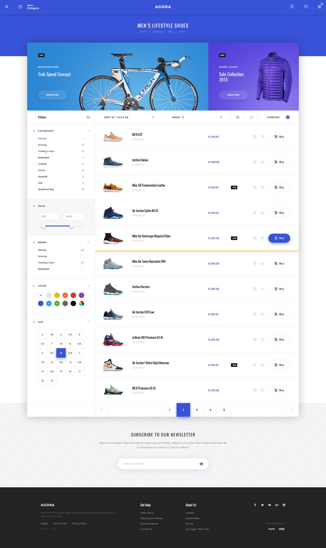 Agora – eCommerce PSD Template by Svetlov | ThemeForest